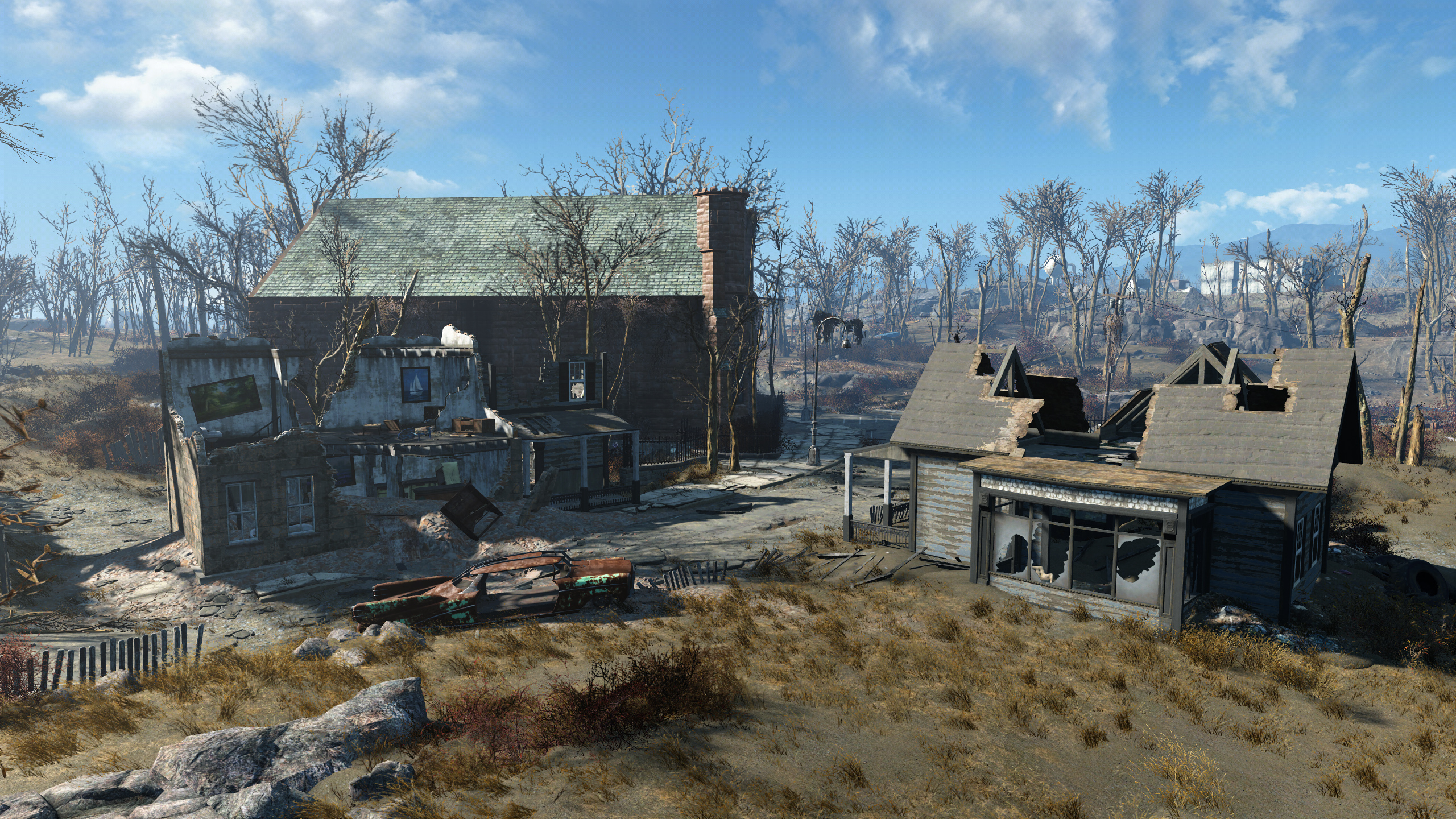 FO4 Salem Museum Cottages