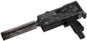 Rheinmetall 9mm machine pistol silencer hand