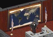 Świat i flagi enklawy