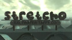 FO3PL Stretcho Saltwater Taffy company sign