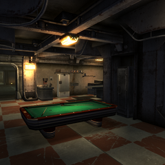 Pool table in Vault 21 canteen