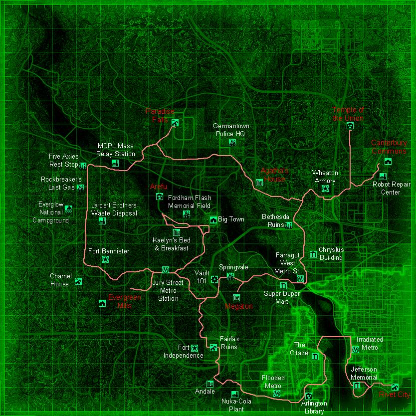Ps3 Fallout 3 Schematics Locations Map - Online Schematic Diagram •