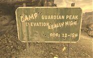 FNV Mount Guardian Peak sign 2