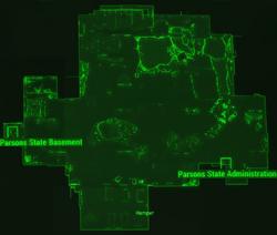 Parsons State Insane Asylum map