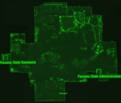 Parsons State Insane Asylum map