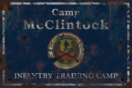 F76 Camp McClintock Sign