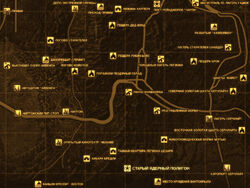 FNV Карта СТАРЫЙ ЯДЕРНЫЙ ПОЛИГОН