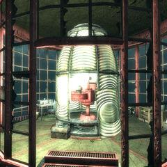 Працюючий прожектор маяка
