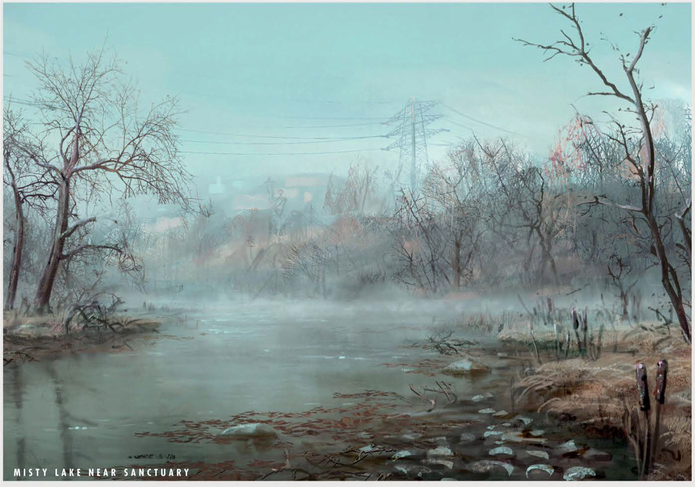 Fo4 Misty Lake Near Sanctuary Art