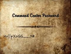Command center password