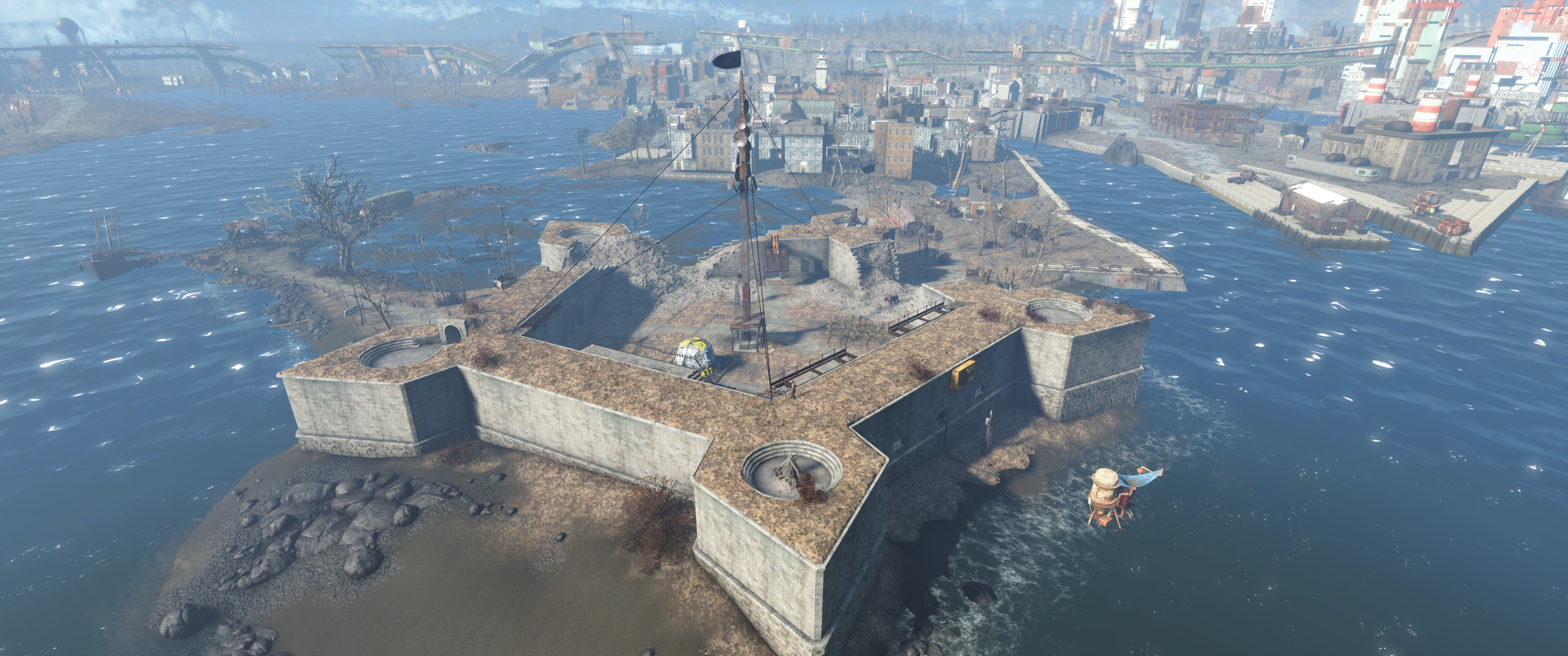 FO4 Castle Aerial