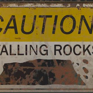 Caution falling rocks