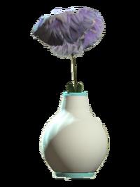 Glass bud teal vase