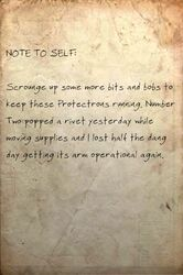 Note to self Parts