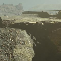 Вид на печеру з боку «Червоної ракети»