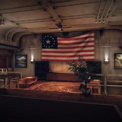 The bunker's screening area