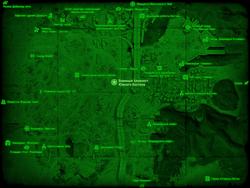 FO4 Военный блокпост Южного Бостона (карта мира)