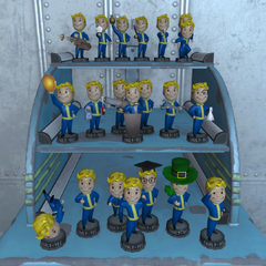 All Fallout 4 bobbleheads on stand