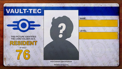 FO76 Player ID Card