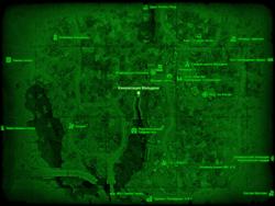 FO4 Канализация Мальдена (карта мира)