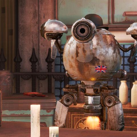 Британський прапор на корпусі робота <a class=
