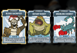 Fo76 Legend Perk Cards assorted