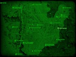 FO4 Дом в кратере (карта мира)