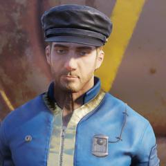 FO76 leather cap male