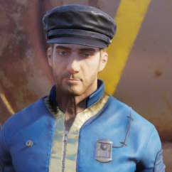 FO76 leather cap male