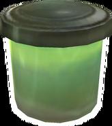 Zielony pojemnik łowca