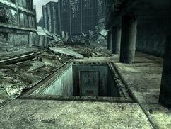 Arlington sewer entrance