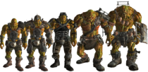 FO3 super mutants line-up