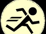 Значок головастиков: спортсмен