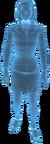 Holograma femenino