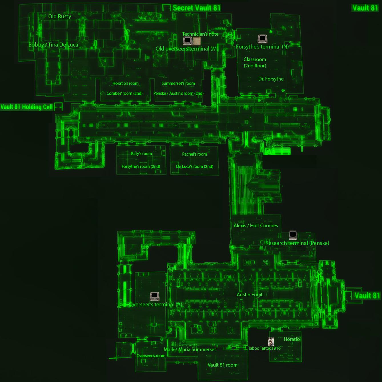 Vault 81 reactor room map