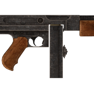 Пістолет-кулемет кал. 45 Авто з усіма модифікаціями.