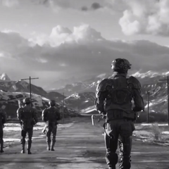 Nate (center) and a squad of soldiers during the <a href=