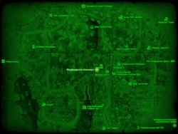 FO4 Медфордская больница (карта мира)