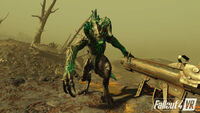 Fallout 4 VR Engaging Deathclaw