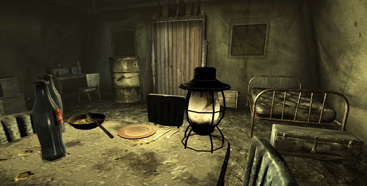 Fo3 abandoned tent interior