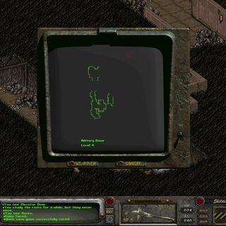 Melchior's pets on the top right corner (impossible to go there) on level 4 in <i>Fallout 2</i>