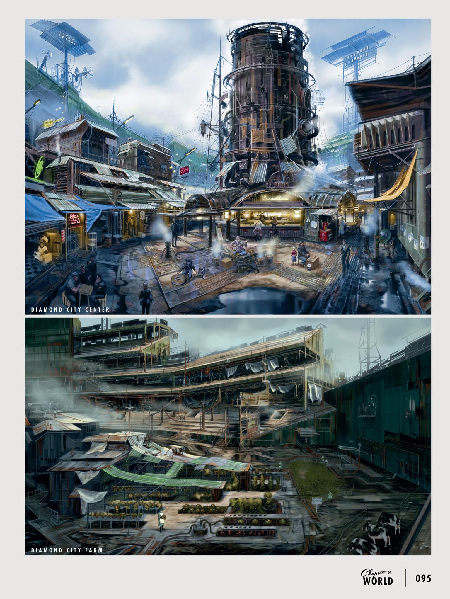 Diamond City concept art