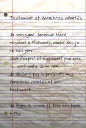 FO76 Dernières volontés et testament de Jeremiah Ward 01