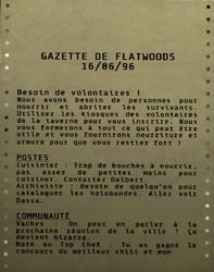FO76 Gazette de Flatwoods 01