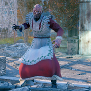 FO76 Holiday scorched Mrs Claus' dress