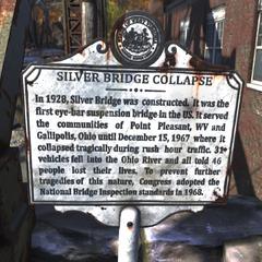 Silver Bridge sign