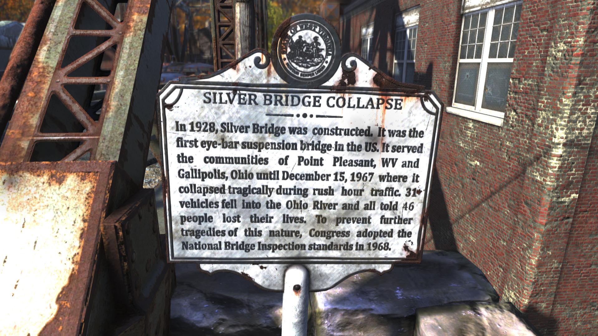 FO76 Silver Bridge sign