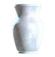 Glass vaulted vase