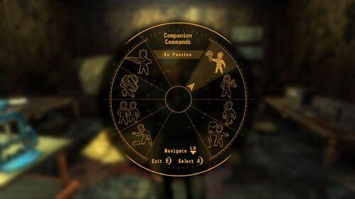 FNV prelease screenshot companion wheel