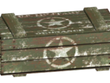 Military shipping crate